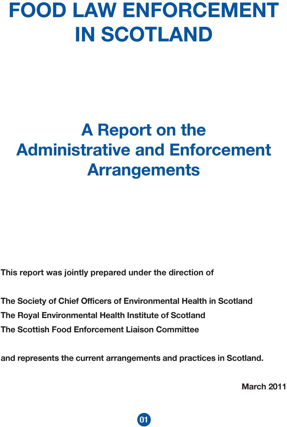 Health in Scotland The Royal Environmental Health Institute of Scotland The Scottish Food