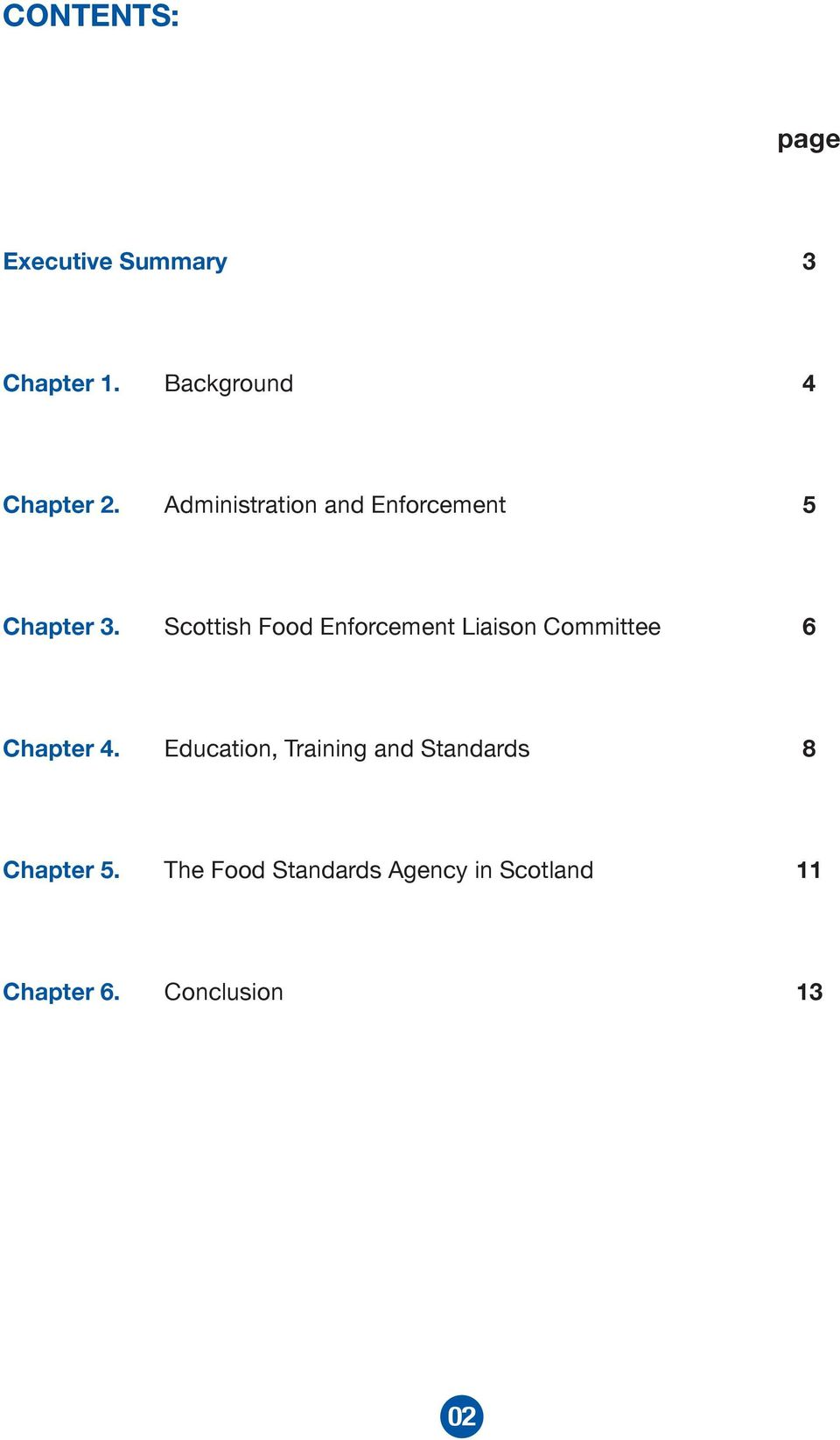 Scottish Food Enforcement Liaison Committee 6 Chapter 4.