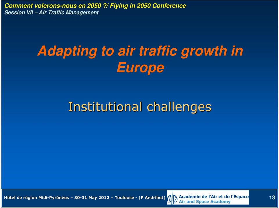 Management Adapting to air traffic growth in Europe