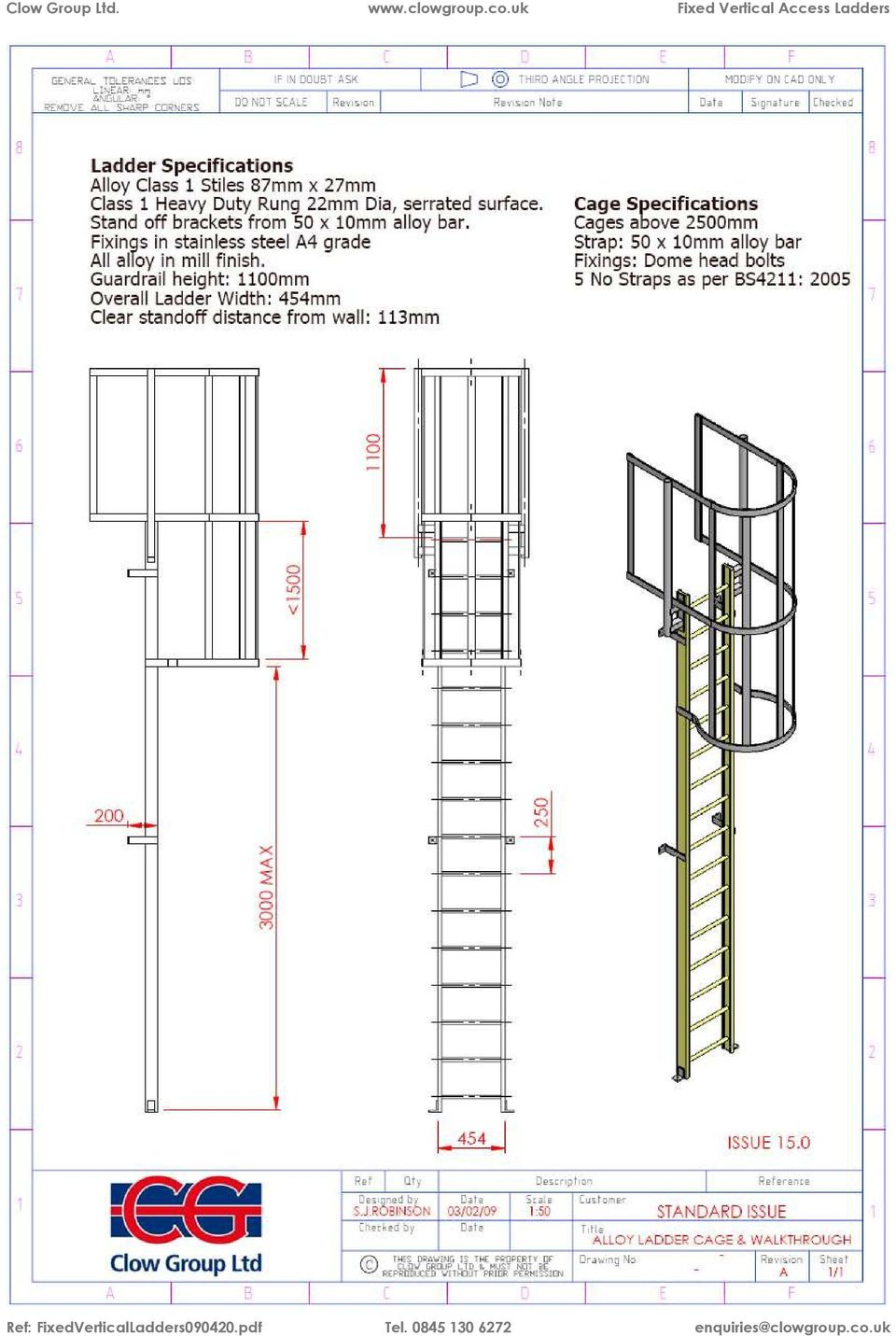 Fixed Vertical Access Ladders Pdf