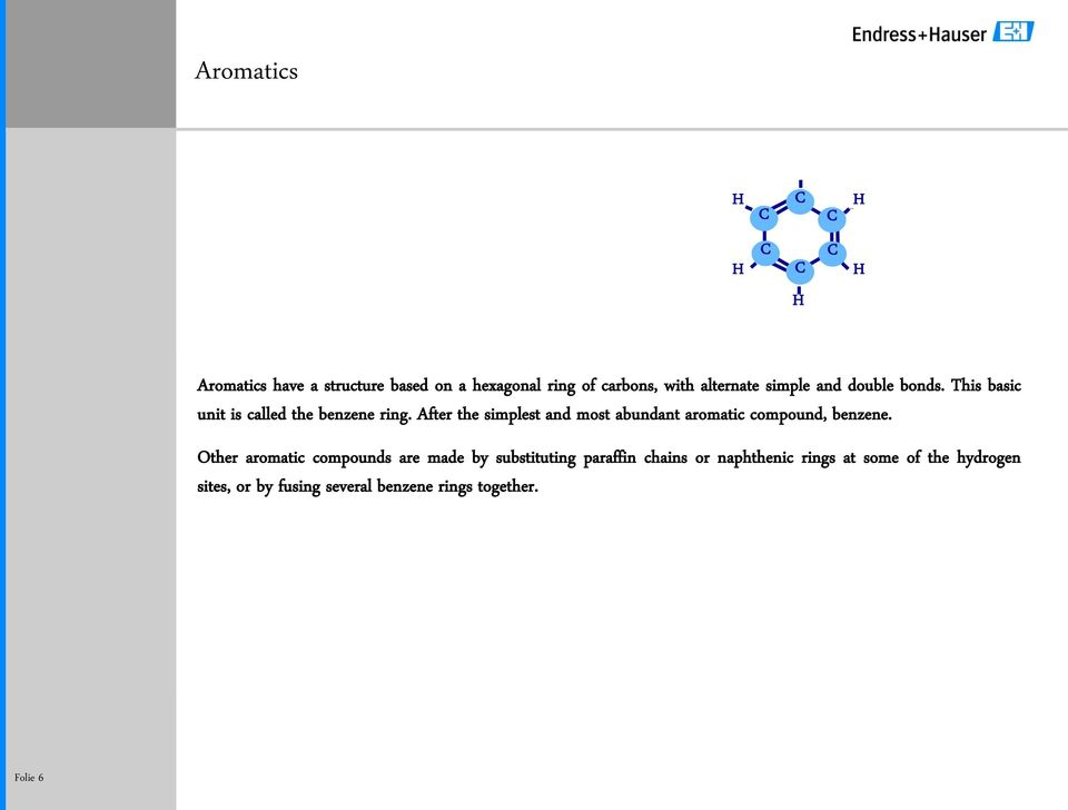 After the simplest and most abundant aromatic compound, benzene.
