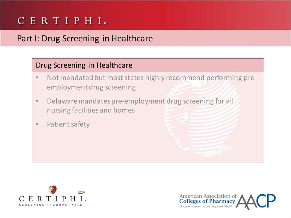 performing preemployment drug screening Delaware mandates