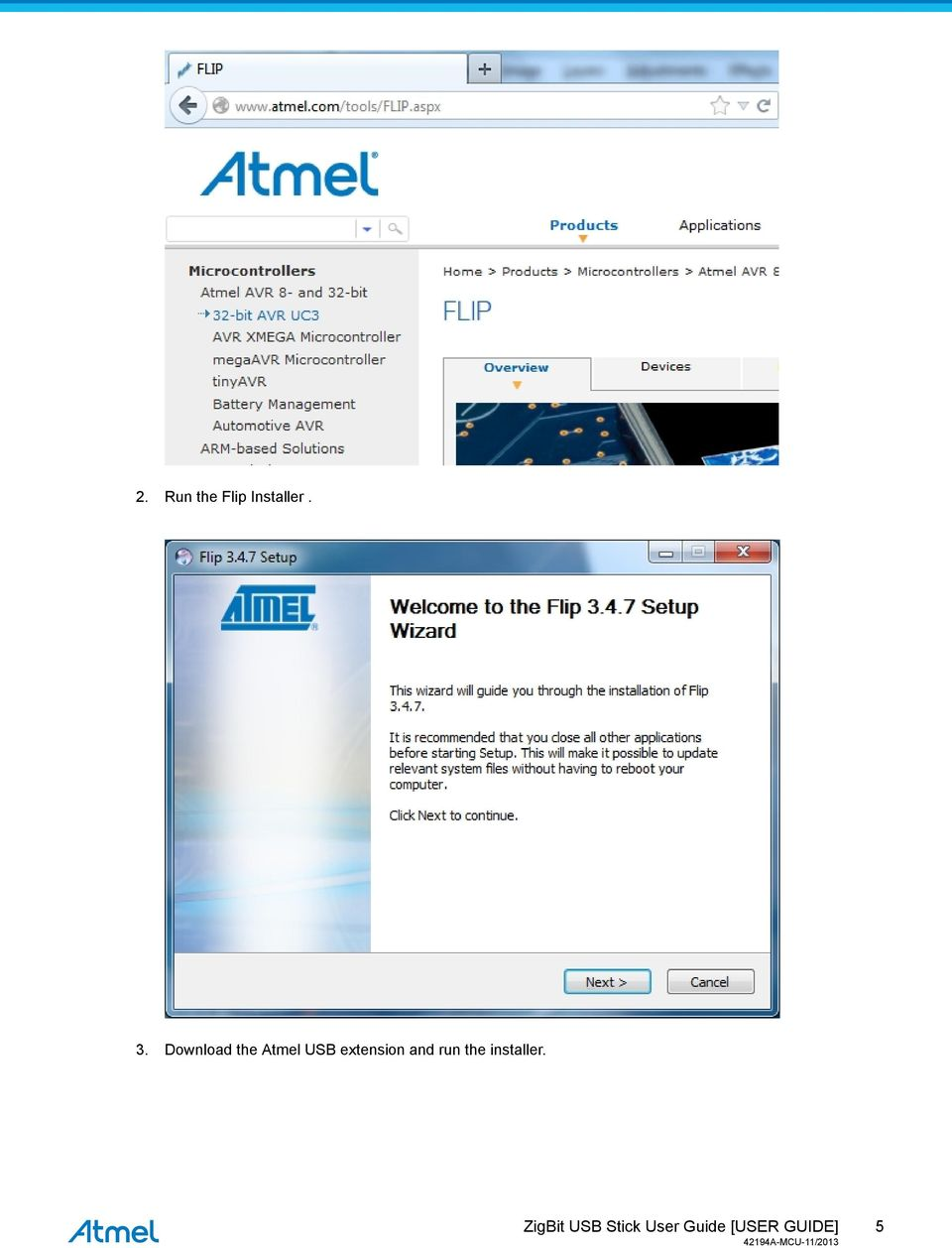 Download the Atmel