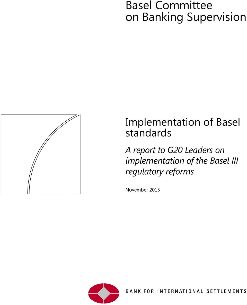 report to G20 Leaders on implementation