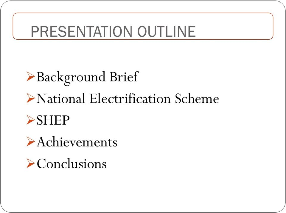 National Electrification