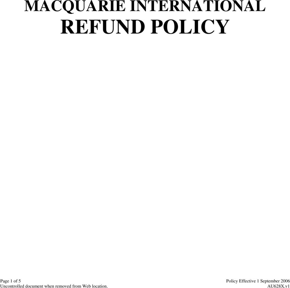 POLICY Page 1 of 5