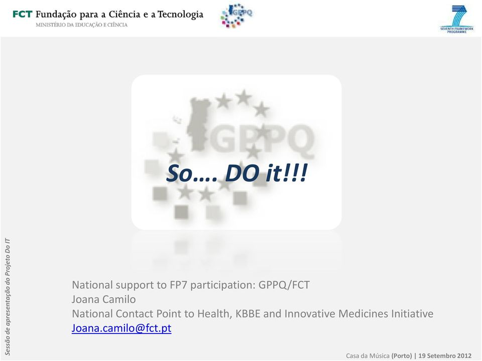GPPQ/FCT Joana Camilo National Contact