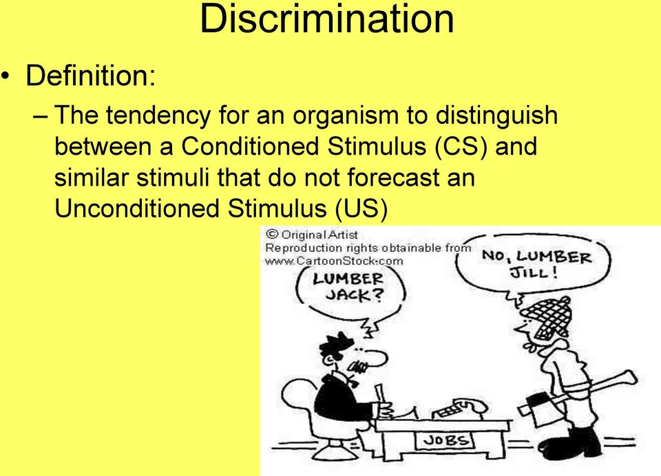 Conditioned Stimulus (CS) and similar
