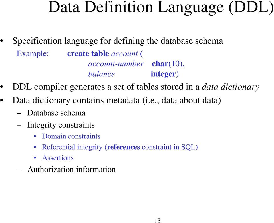 dictionary Data dictionary contains met