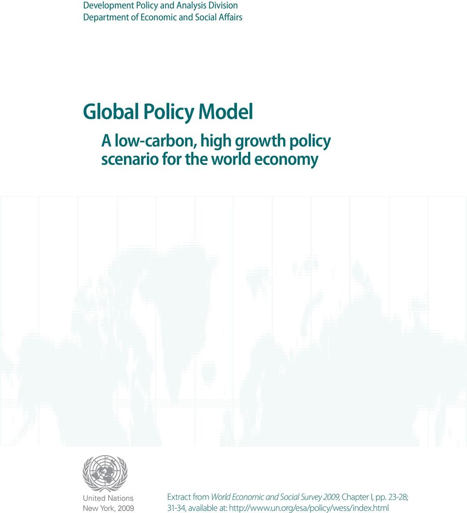 world economy United Nations New York, Extract from World Economic and Social