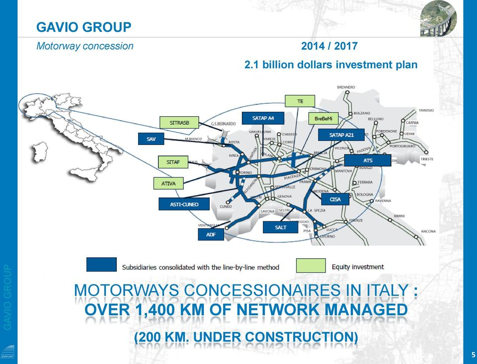 MOTORWAYS CONCESSIONAIRES IN ITALY : OVER