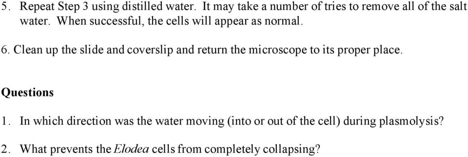 When successful, the cells will appear as normal. 6.