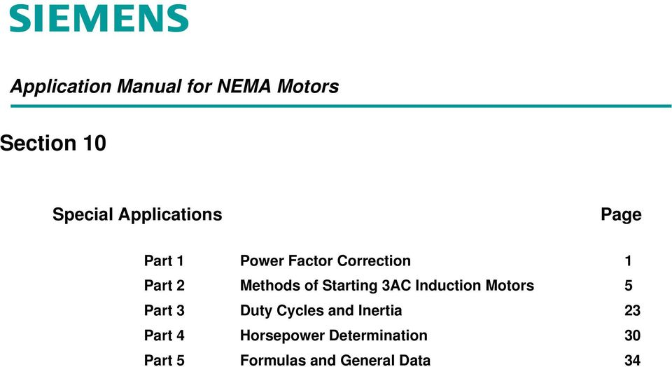Induction Motors 5 3 Duty Cycles and Inertia