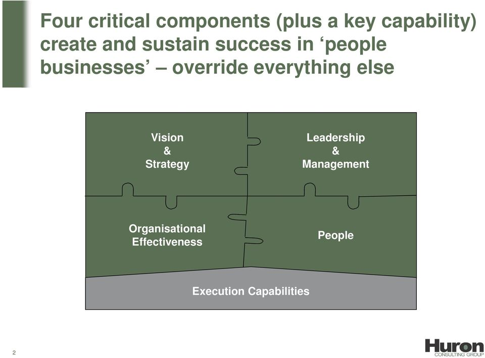 everything else Vision & Strategy Leadership &