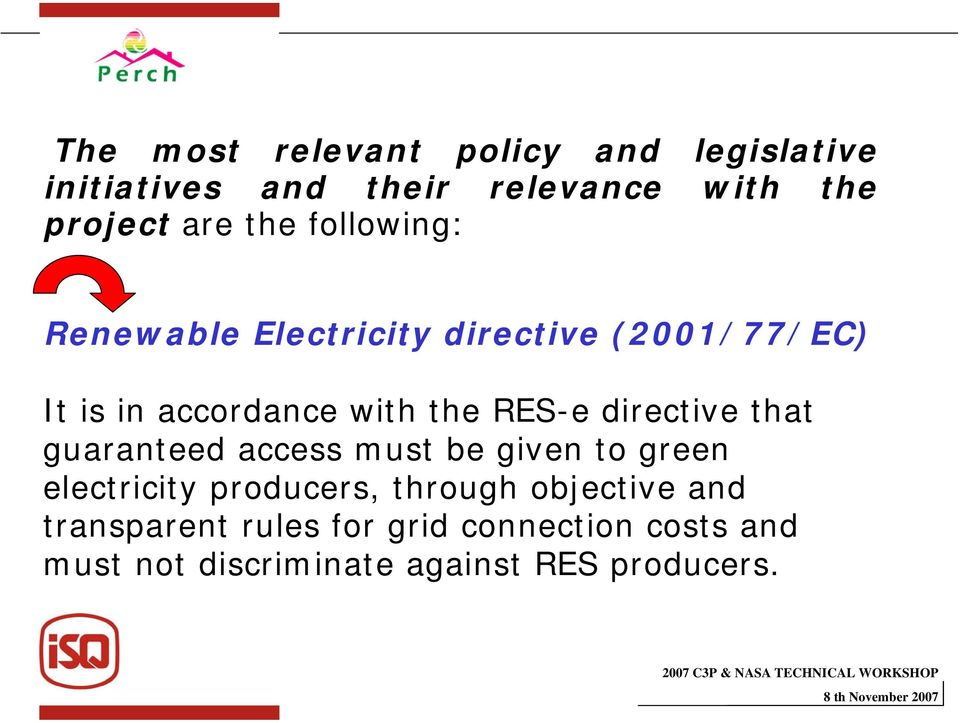 directive that guaranteed access must be given to green electricity producers, through