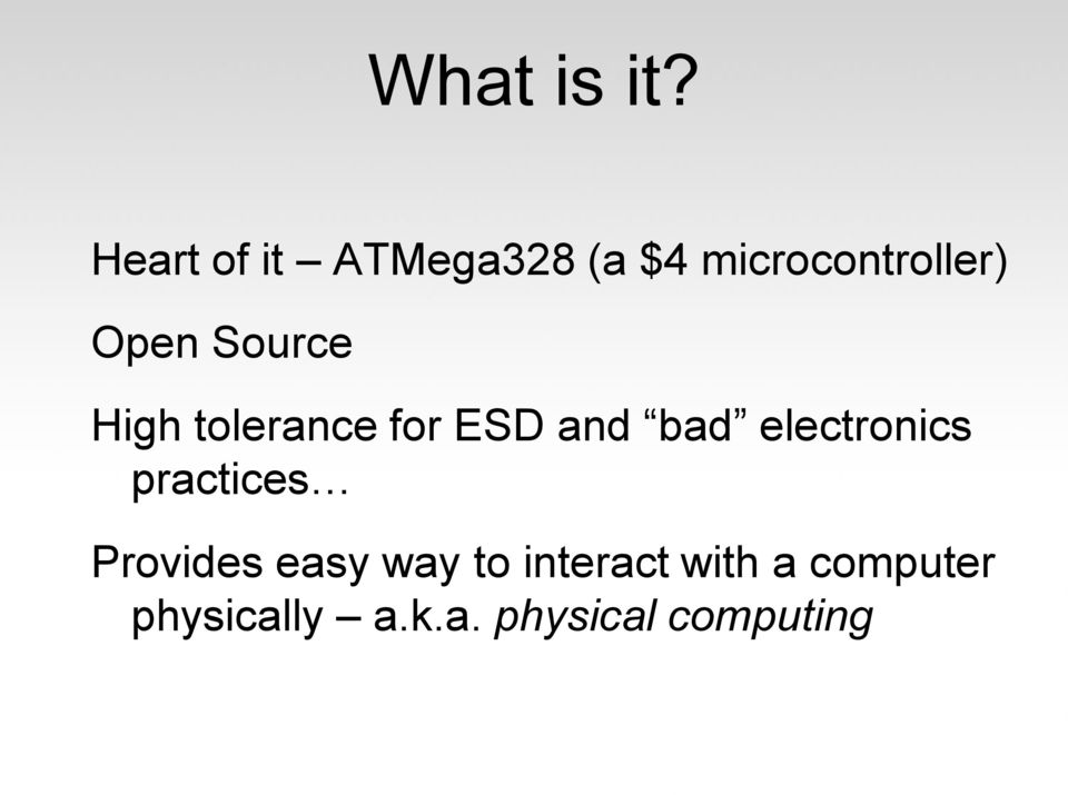 Source High tolerance for ESD and bad electronics