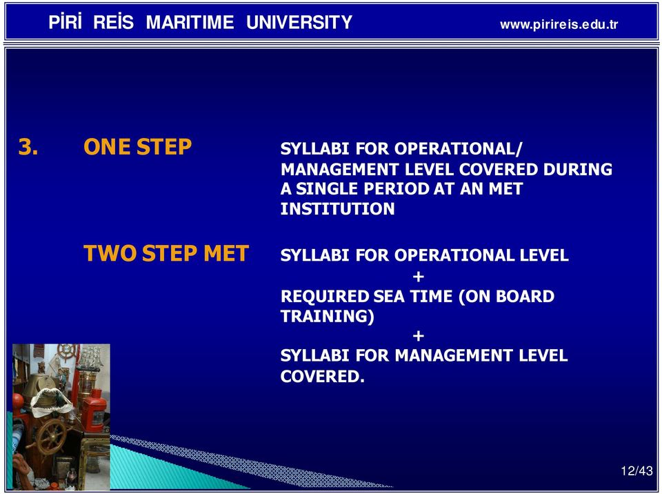 STEP MET SYLLABI FOR OPERATIONAL LEVEL + REQUIRED SEA TIME