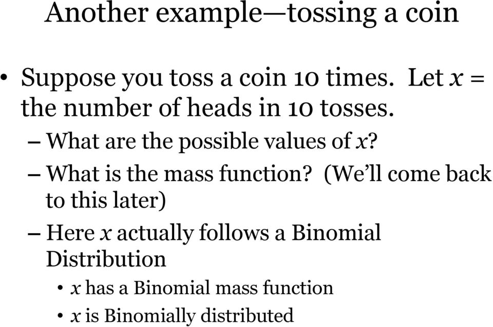 What is the mass function?