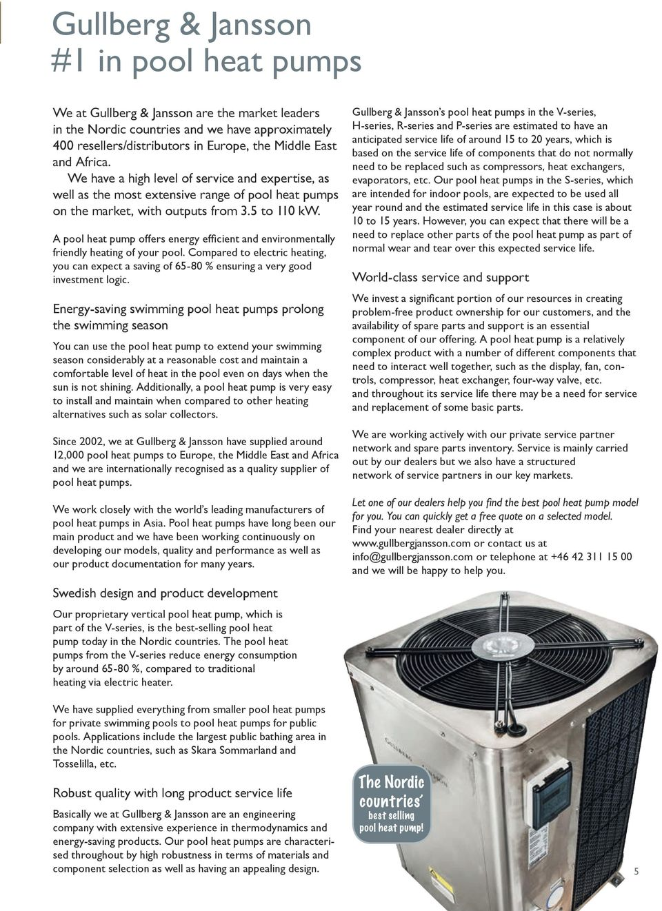 Swimming pool spa product catalogue pdf a pool heat pump offers energy efficient and environmentally friendly heating of your pool compared freerunsca Choice Image