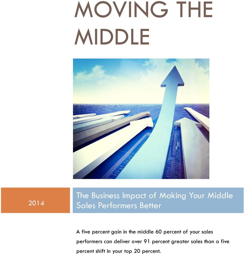 middle 60 percent of your sales performers can deliver over 91