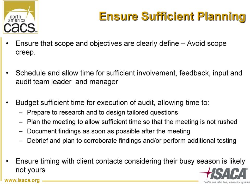 How to survive an Audit - PDF