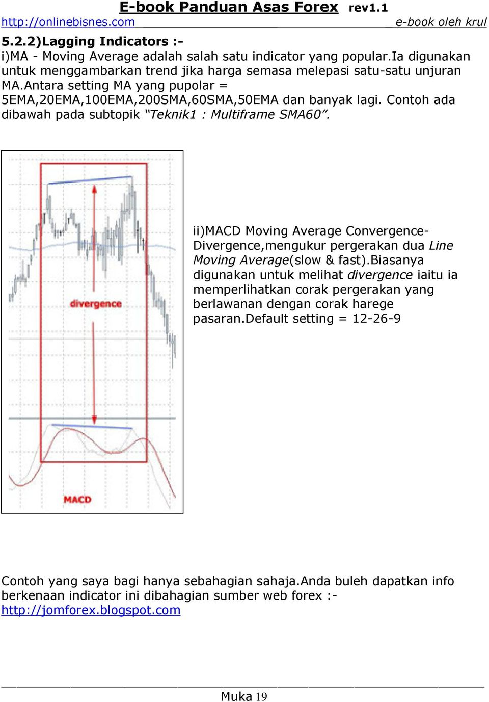 ii)macd Moving Average Convergence- Divergence,mengukur pergerakan dua Line Moving Average(slow & fast).