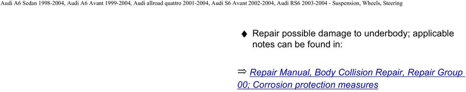 Repair Manual, Body Collision Repair,