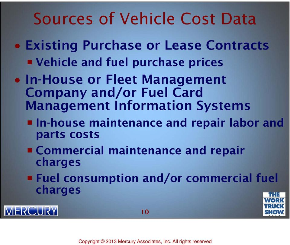Information Systems In-house maintenance and repair labor and parts costs