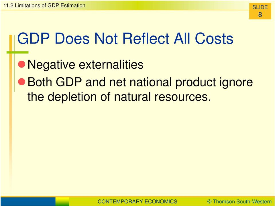 externalities Both GDP and net national