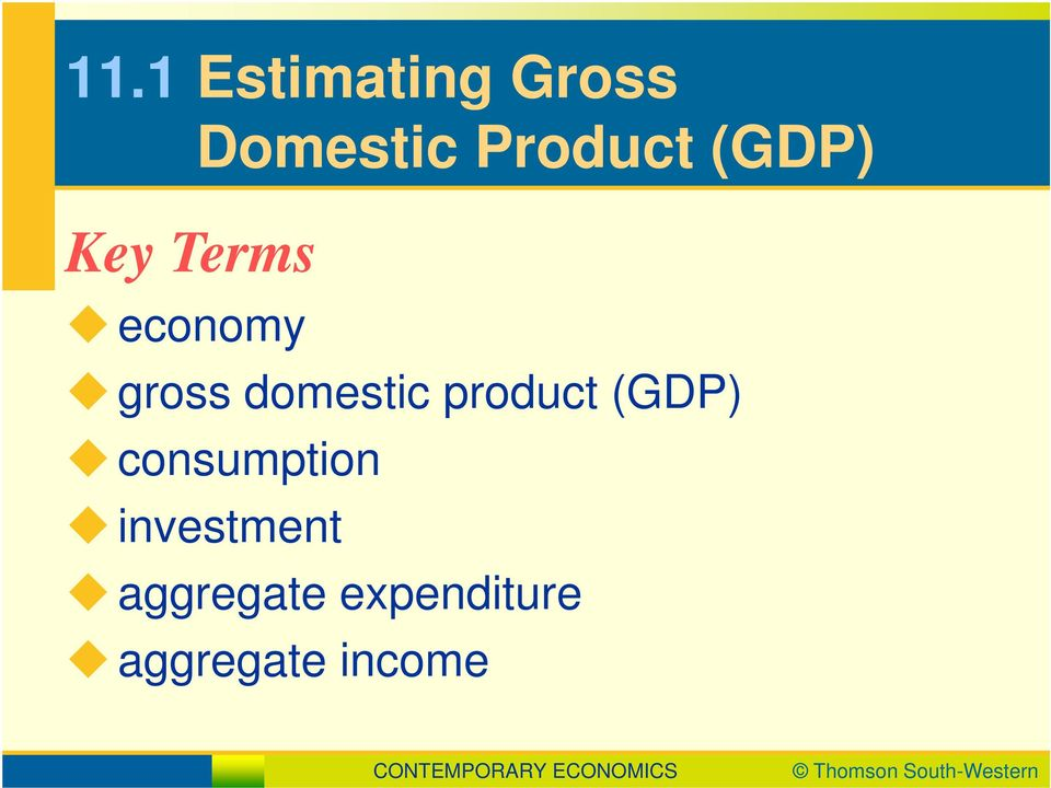 product (GDP) consumption investment