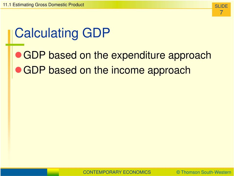 GDP based on the expenditure