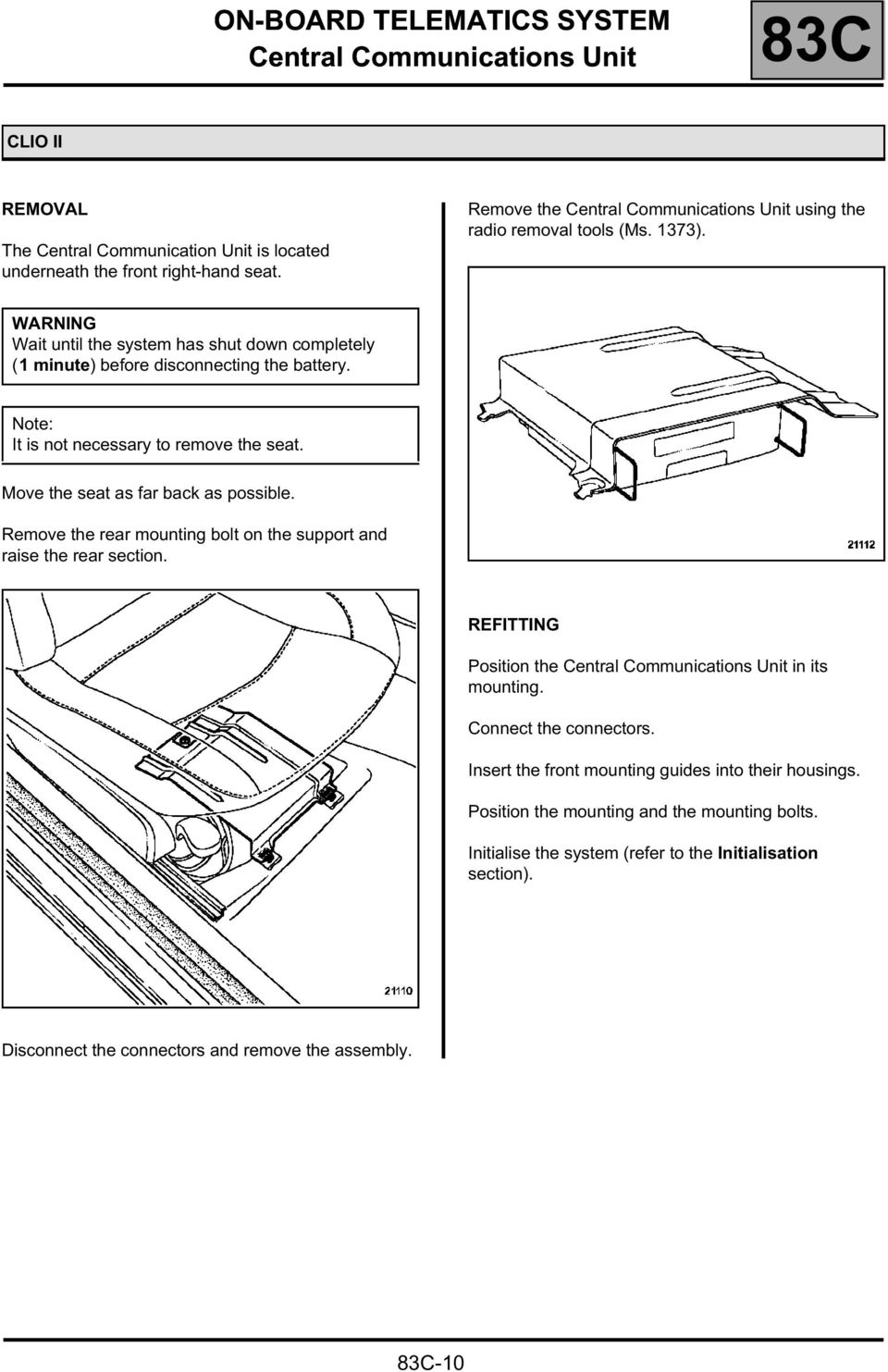 Technical Note 3729a Pdf Tomtom Link 300 Wiring Diagram It Is T Necessary To Remove The Seat Move As Far