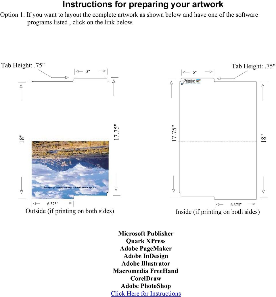 37 6.37 Outside (if printing on both sides) Inside (if printing on both sides) Microsoft Publisher Quark XPress