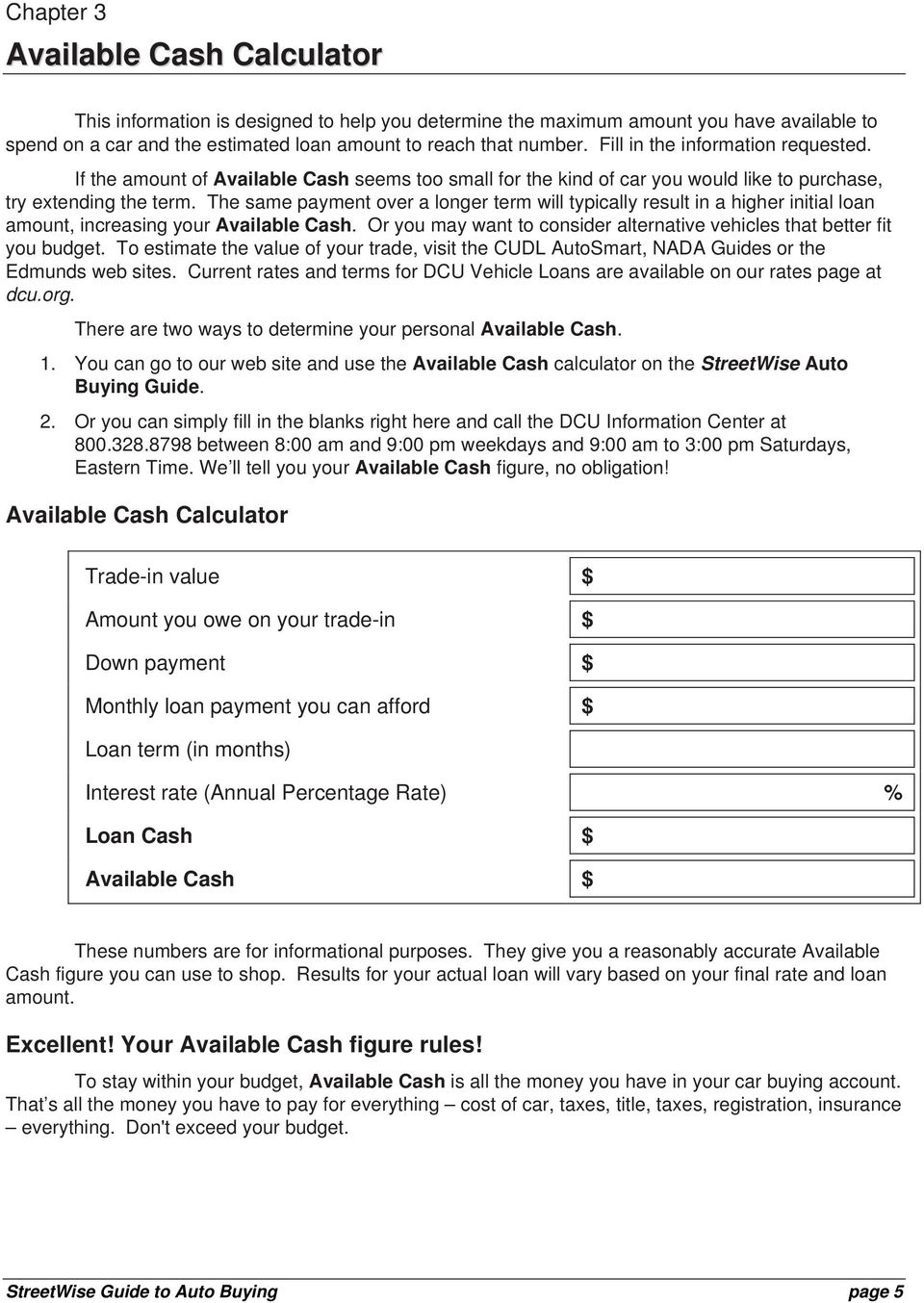 Dcu Auto Loan Calculator >> Okay Let S Get Started Pdf Free Download