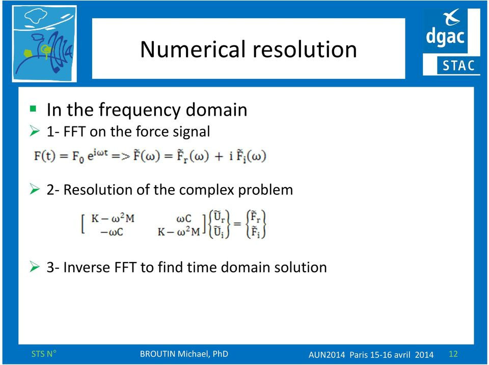 problem 3-Inverse FFT to find time domain solution
