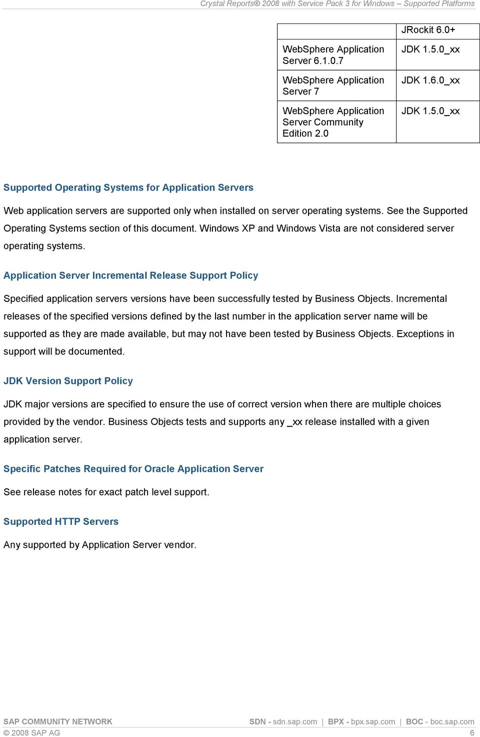 See the Supported Operating Systems section of this document. Windows XP and Windows Vista are not considered server operating systems.