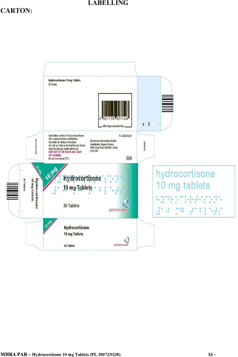 Hydrocortisone 10