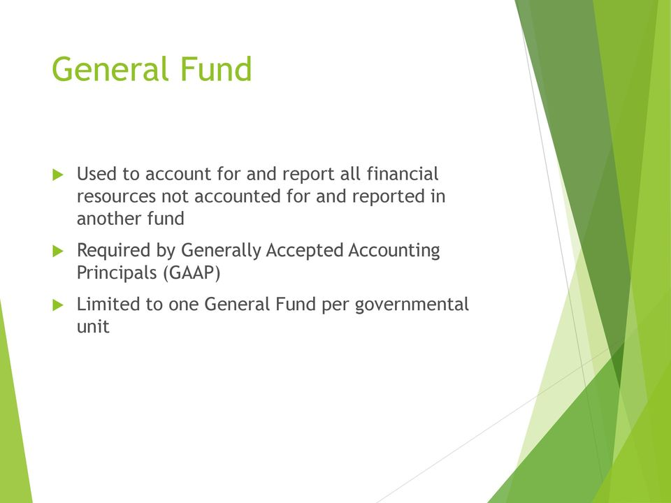another fund Required by Generally Accepted Accounting