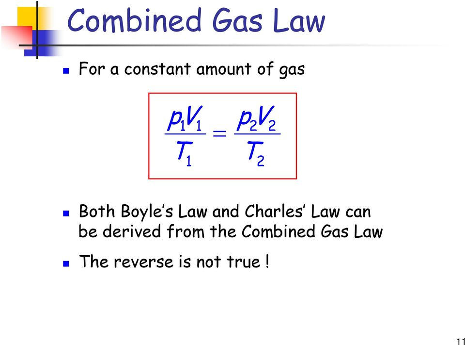 Law and Charles Law can be derived from