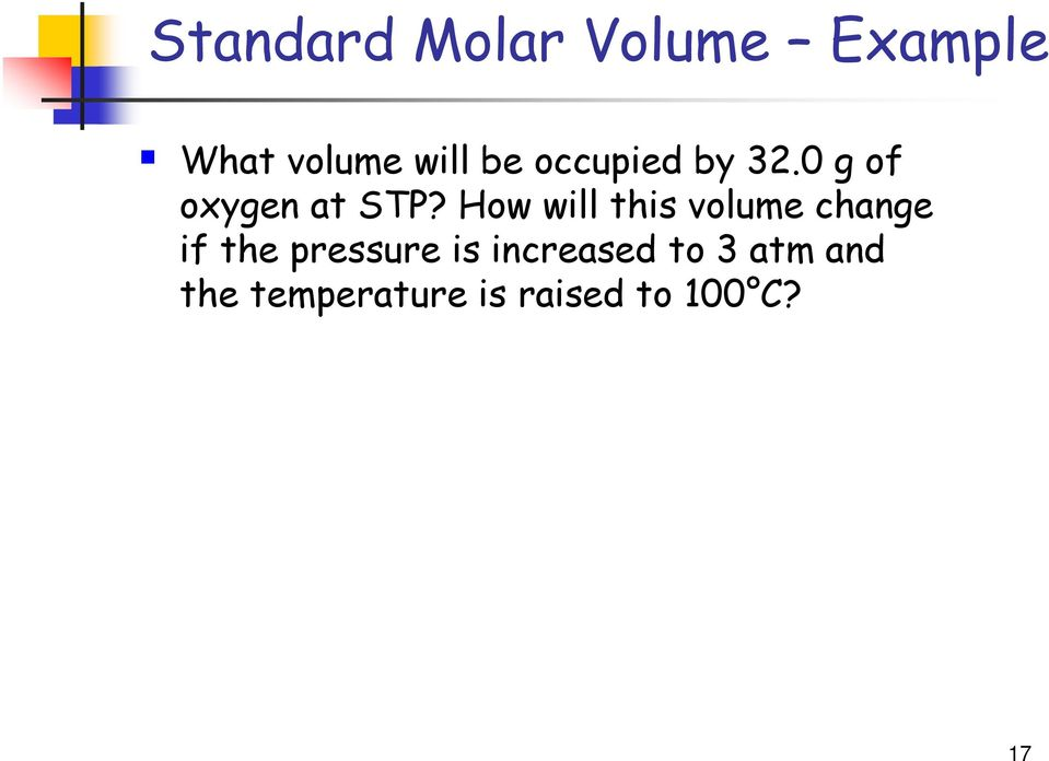 How will this volume change if the pressure is