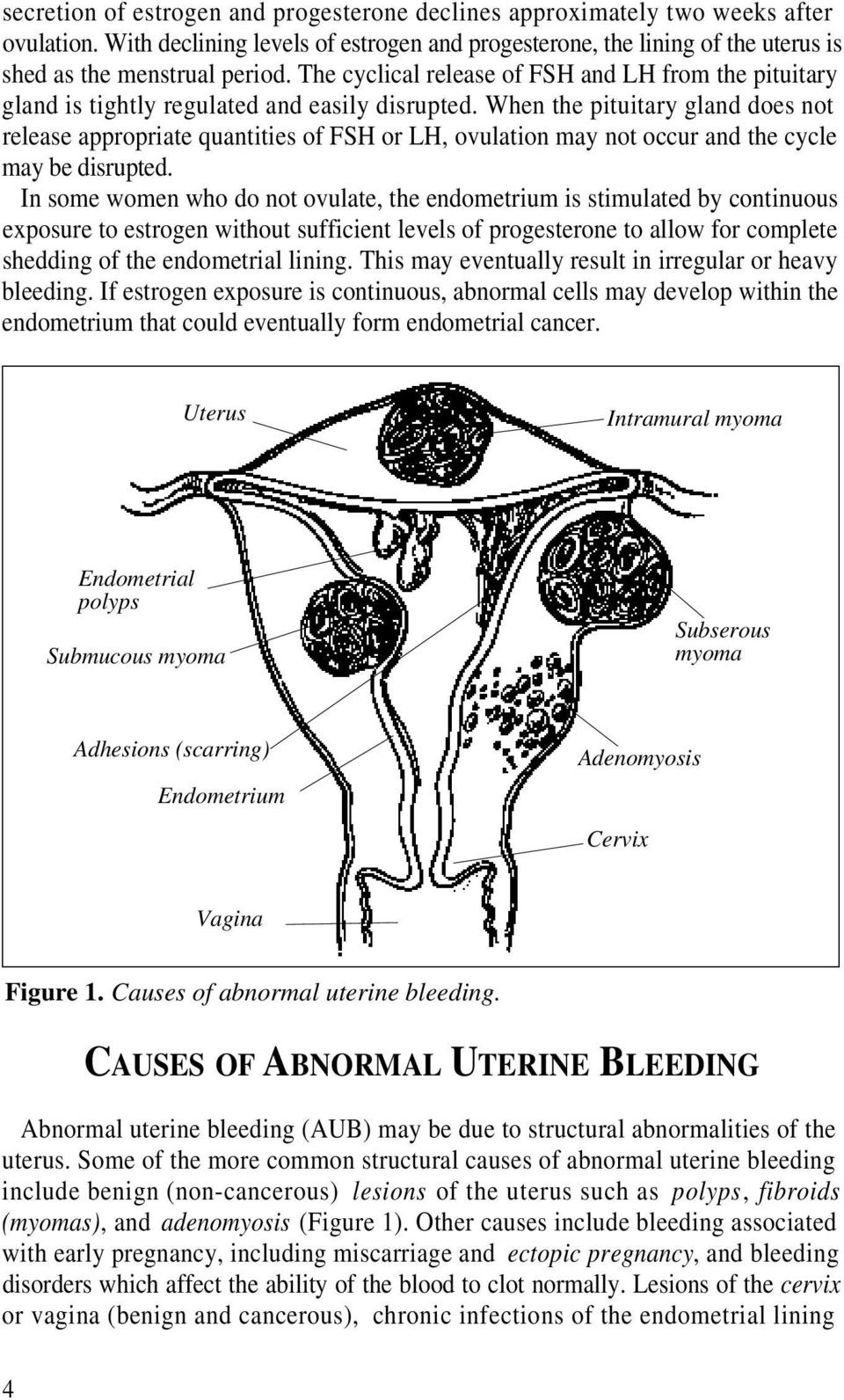 When the pituitary gland does not release appropriate quantities of FSH or LH, ovulation may not occur and the cycle may be disrupted.