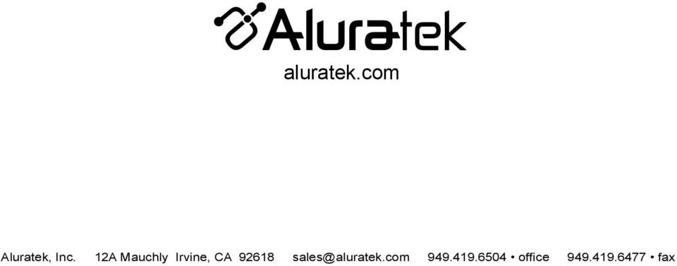 92618 sales@aluratek.