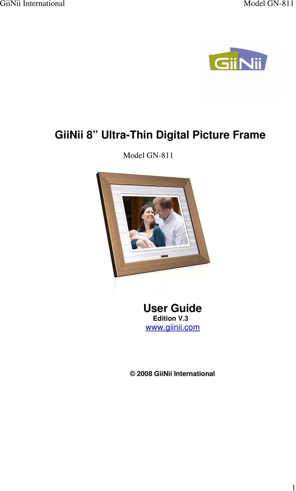 GiiNii 8 Ultra-Thin Digital Picture Frame - PDF
