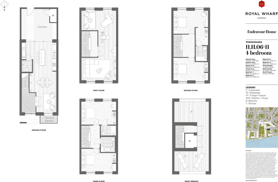 06-11 213 SqM / 2293 SqFt 5173 mm x 4505 mm 5809 mm x 4000 mm 10415 mm