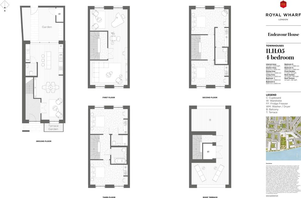 05 213 SqM / 2293 SqFt 5173 mm x 4505 mm 5809 mm x 4000 mm 10415 mm x