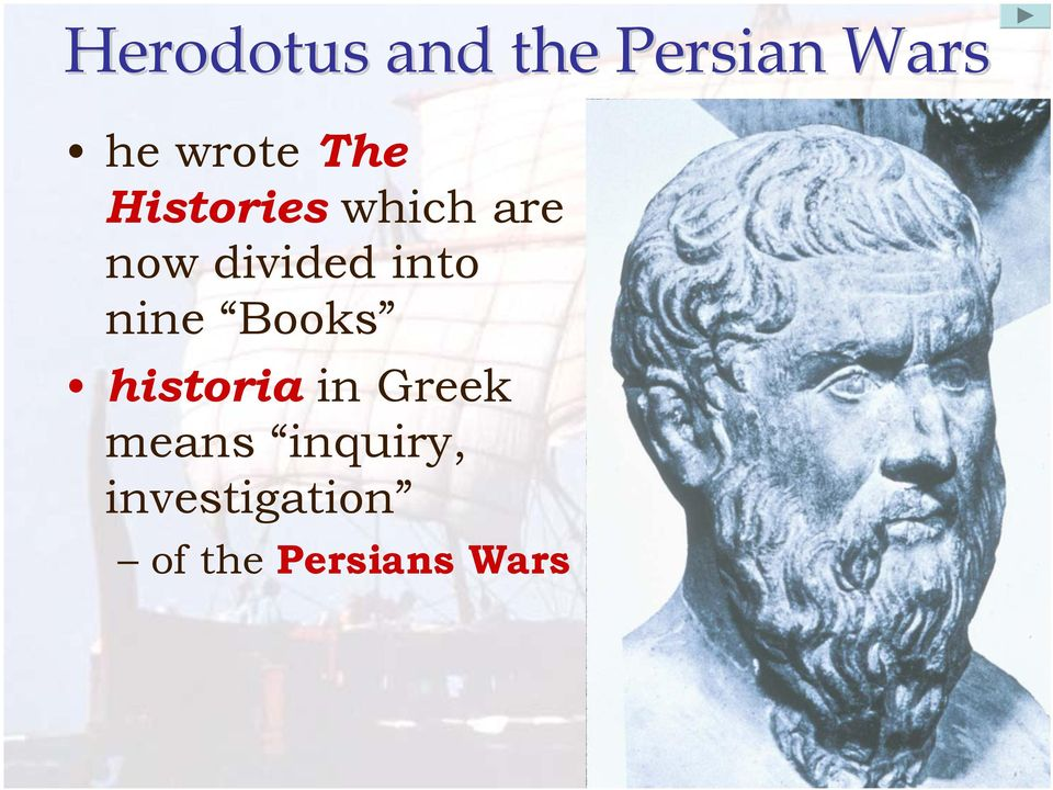 historia in Greek means