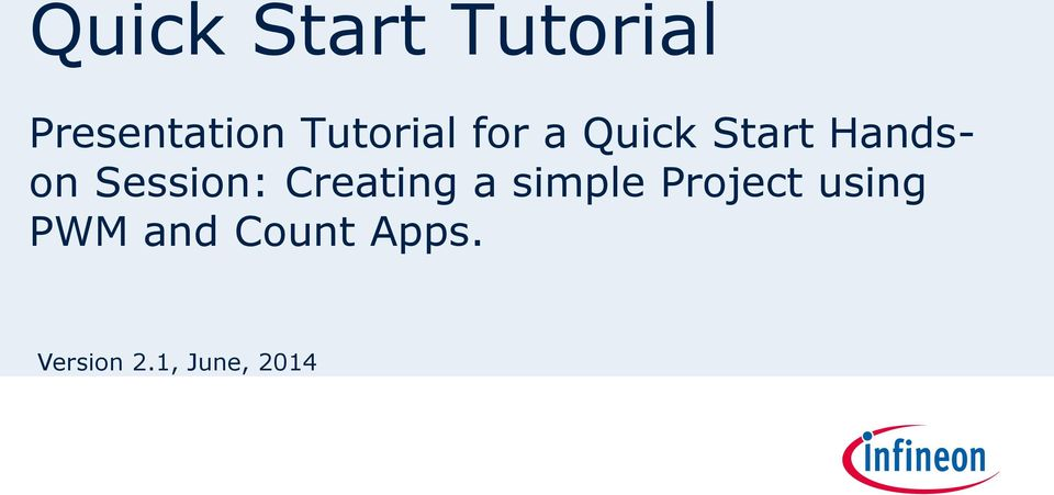 Session: Creating a simple Project