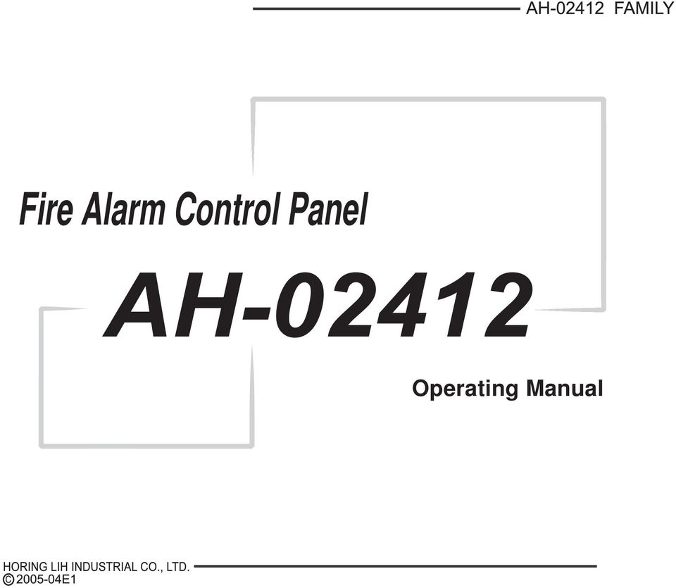 fire alarm control panel operating manual pdf