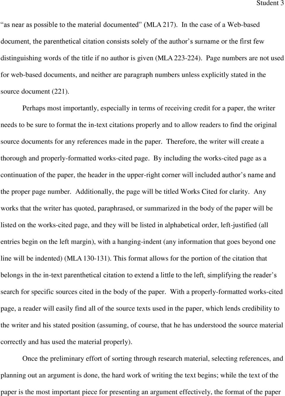 an analysis of parenthetical documentation and mla format Mla format examples parenthetical citation examples: page specified, author mentioned in text: if the author's name already appears in the sentence itself then it does not need to appear in the parentheses only the page number appears in the citation - this is called 'author prominent' because it draws attention to the author.