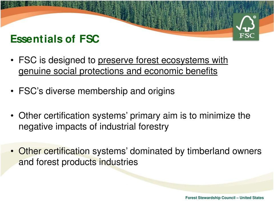 certification systems primary aim is to minimize the negative impacts of industrial